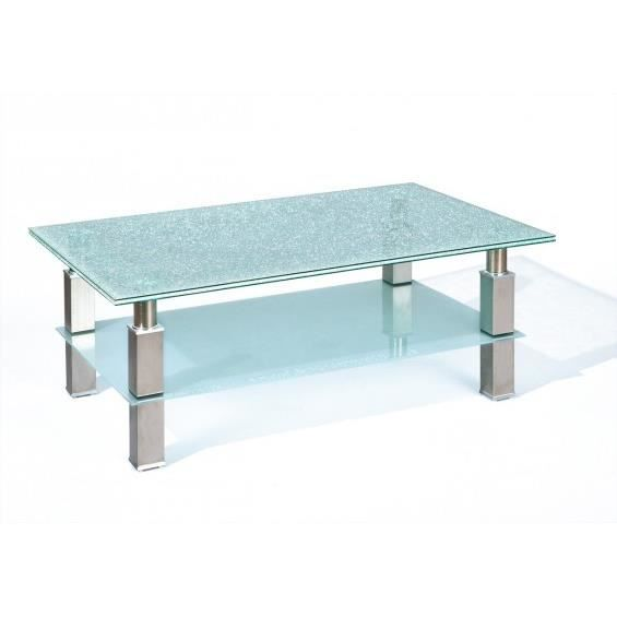 Crushed table basse plateau verre effet bris achat for Dimensions table basse