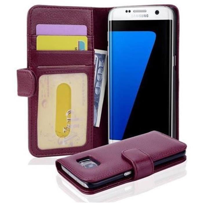 Coque Samsung Galaxy S7 EDGE en BORDEAUX de Cadorabo Etui de ...