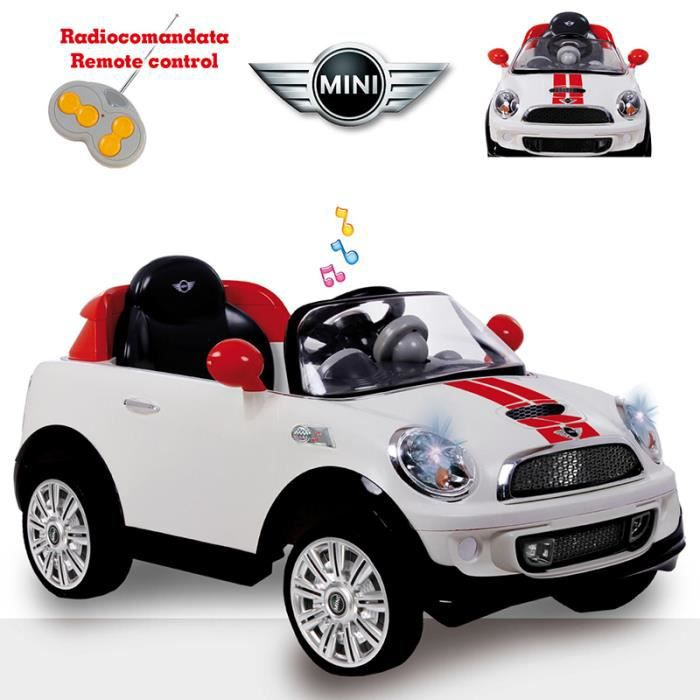 biemme mini cooper coupe 39 electrique avec radiocommande blanc achat vente voiture enfant. Black Bedroom Furniture Sets. Home Design Ideas