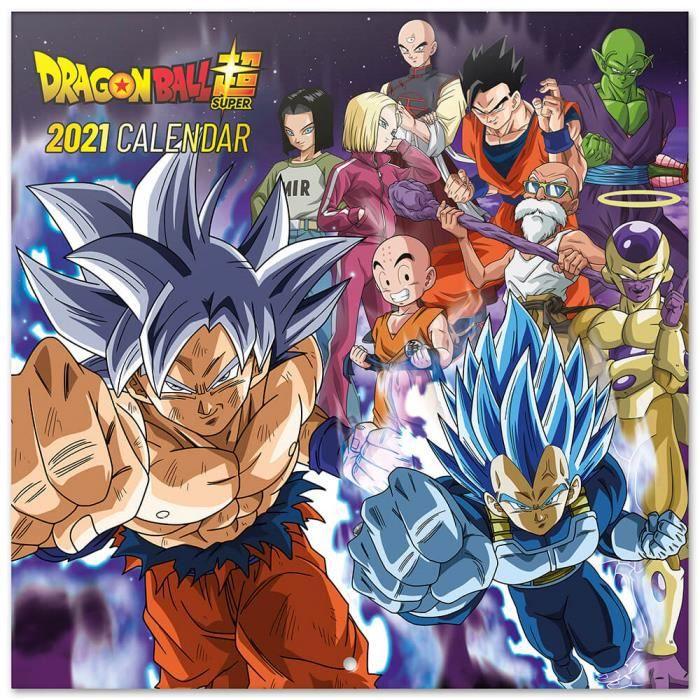 Calendrier 2021 30X30 Dragon Ball   Achat / Vente calendrier