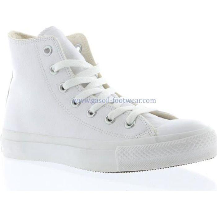 Converse blanc cuir