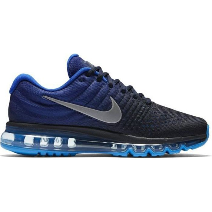 basket nike air max 2017 849559 400 bleu bleu achat vente basket cdiscount. Black Bedroom Furniture Sets. Home Design Ideas