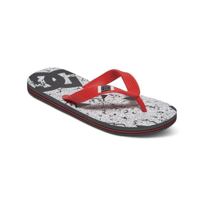 Tongs Enfant DC Spray Graffik Gris-Noir-Rouge