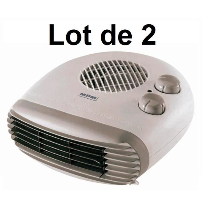 2 x radiateur soufflant lectrique mpm chauffage d. Black Bedroom Furniture Sets. Home Design Ideas