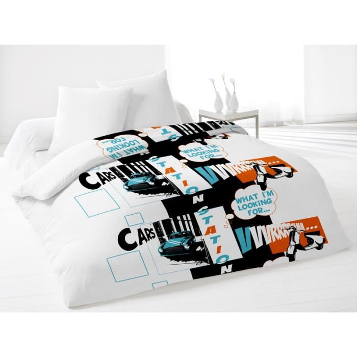 couette 220x240 cm station turquoise achat vente couette cdiscount. Black Bedroom Furniture Sets. Home Design Ideas