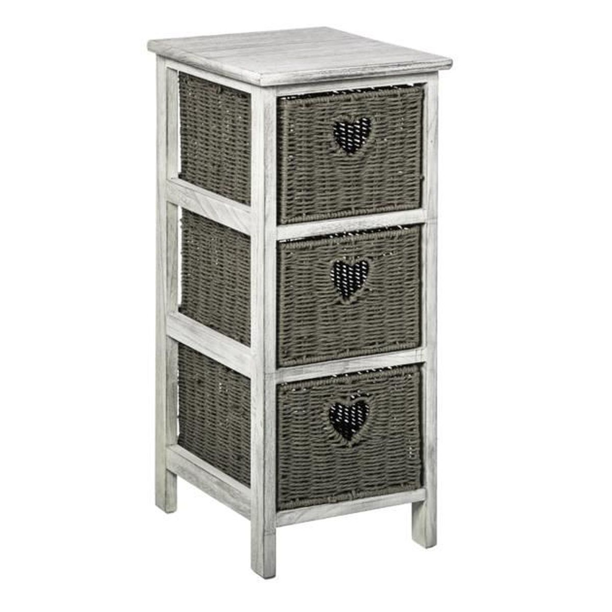 chiffonnier en osier achat vente chiffonnier en osier pas cher cdiscount. Black Bedroom Furniture Sets. Home Design Ideas