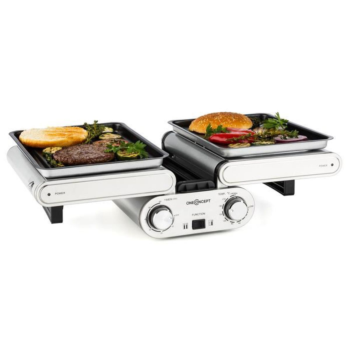 Oneconcept butterfly grill de table barbecue lectrique - Grill electrique de table ...