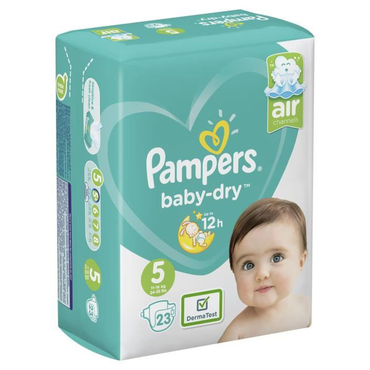 PAMPERS Baby-Dry Taille 5-11 a 23kg 23 couches