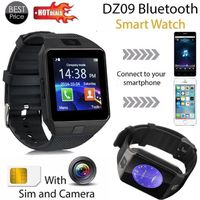 MONTRE CONNECTÉE Bluetooth montre intelligente DZ09 GSM montre inte
