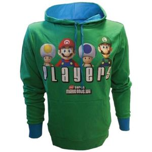 SWEATSHIRT Sweat Capuche Mario Bros: Players - Vert