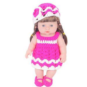 Grand 60CM poupée avec cheveux rose blanc costume chapeau filles fête d/'anniversaire jouet cadeau