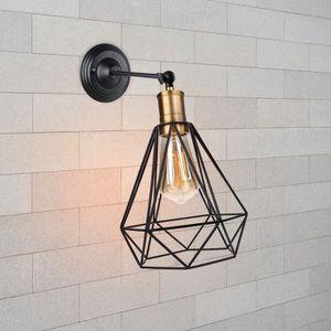 APPLIQUE  Camio& Applique Mural Noir E27 Lampe Mural Cage Di