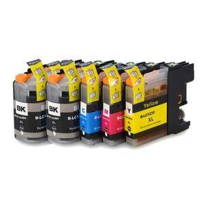 CARTOUCHE IMPRIMANTE PACK DE 5 CARTOUCHES COMPATIBLES BROTHER LC123 - L