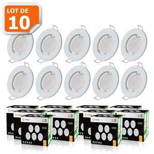 SPOTS - LIGNE DE SPOTS Lot de 10 Spots LED encastrable complète - 50W - L