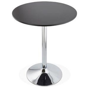 MANGE-DEBOUT MANGE-DEBOUT - TABLE HAUTE 'LYNN' NOIRE - Ø 90 CM