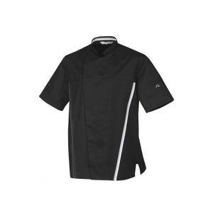 Veste de Cuisine Appollo Noir /à Rouge /à Manches Courtes liser/é Rouge ROBUR