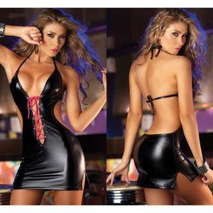 ENSEMBLE DE LINGERIE kingwing® Clubwear Stripper brevet cuir sous-vêtem