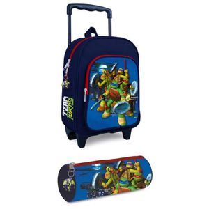 cartable turtues ninja cartable roulettes trousse 1 c - Cartable Tortue Ninja