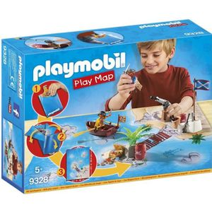 FIGURINE - PERSONNAGE PLAYMOBIL 9328 - Play Map - Pirates avec Support d