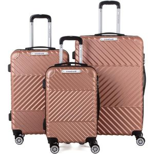 SET DE VALISES TRAVEL WOrLD Ensemble de 3 Valises 55/65/75cm avec