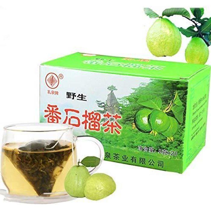 Tisane chinoise Feuilles de goyave Thé Sachets de thé 2g X 20bags Nouveau thé parfumé Thé vert Soins de santé Fleurs thé Aliments ve
