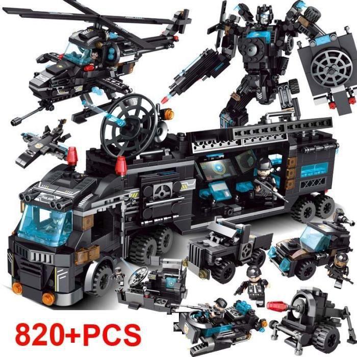 820 pièces ville Police SWAT blocs de construction compatibles LegoINGlys ville blocs techniques briques Playmobil jouets pour enfan
