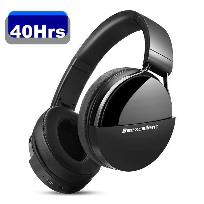 Casque Bluetooth Sans Fil, Beexcellent Q7 Casque Audio Stéréo Hi-FI 40 Heurs De Lecture Bluetooth 5.0