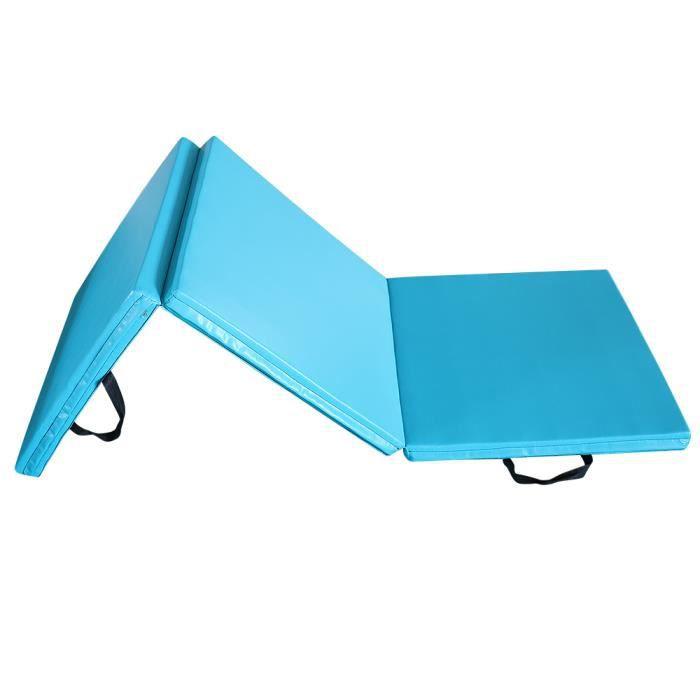 180*60*5CM-Tapis de Gymnastique Bleu Clair Maison/Gym-Pliable-Bon marché