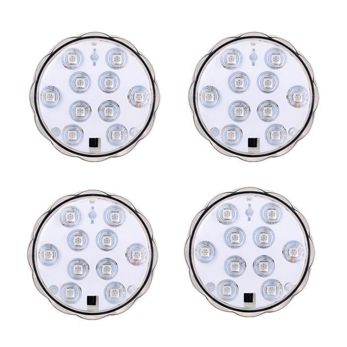 4 pcs Lumières Sous-Marine Créative 10 Lampes Plongée Télécommande LED Lampe Lumière pour Fish Tank Piscine NAPPE DE TABLE