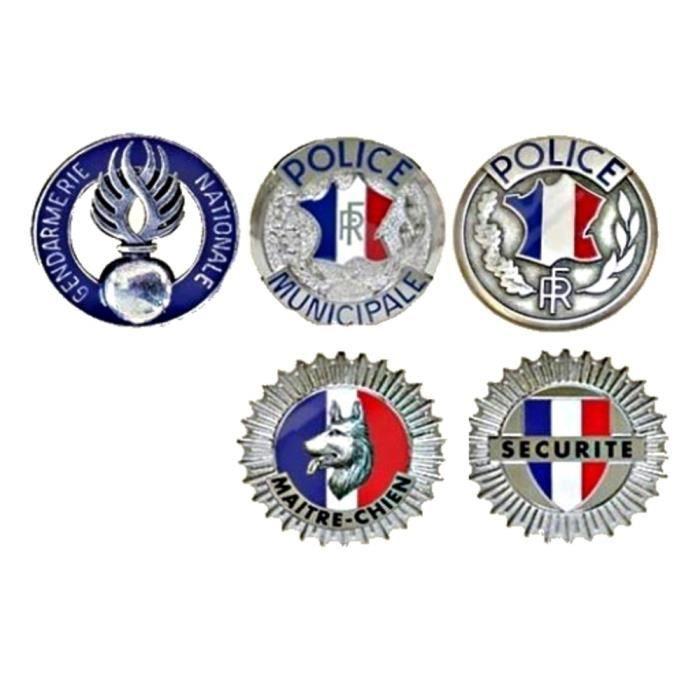 Médaille gendarme, police, agent maitre chien et sécurité