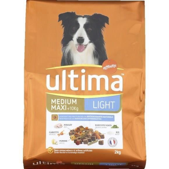 ULTIMA Croquette repas Équilibre Light - Pour chien