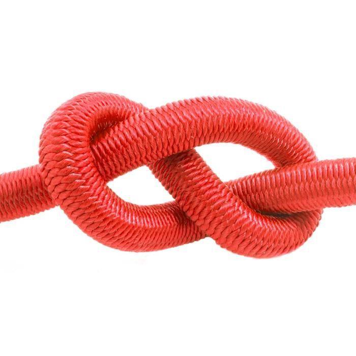 10m corde élastique câble 12mm rouge - plusieurs tailles et couleurs
