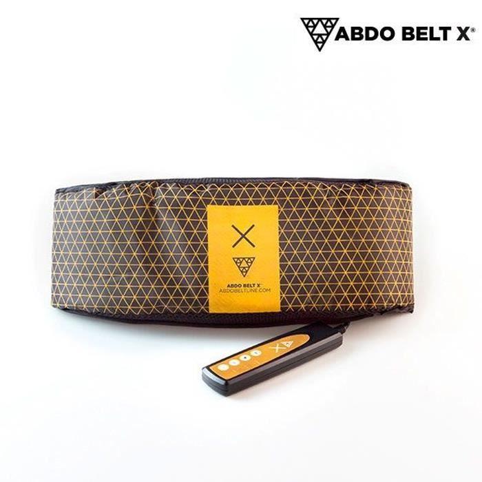 Abdo Belt X – Ceinture Abdominale Vibrante – Idéal pour raffermir et tonifier vos épaules, l'abdomen, le dos, la taille, les hanches