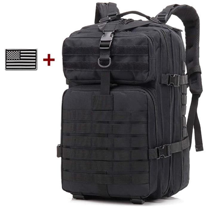 Sac à dos tactique, sac à dos d'assaut militaire, sac à dos Molle pour les 3 jours, sac de préparation de 45 l