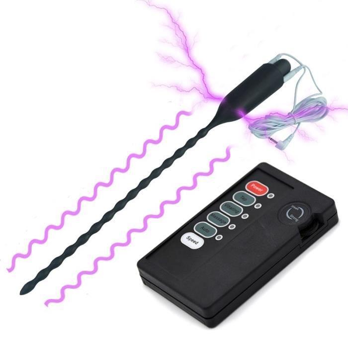 Jeu de chocs électriques jouets sexuels pour hommes électro stimuler la chasteté conducteur Silicone bouchon de - Type With Host