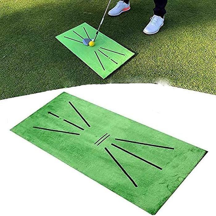Golf Training Mat for Swing, Detection Batting Golf Practice Training Aid Game, Mini Golf Mat Golf Training Mat,Detection Strike Mat