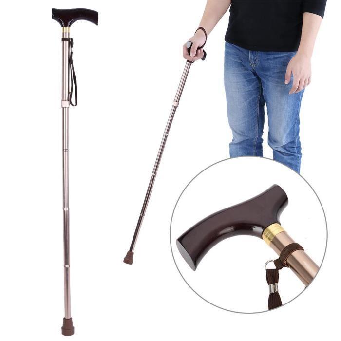 Canne pliante résistante à l'usure, bâton de marche de haute qualité, pratique pour les personnes âgées aveugles