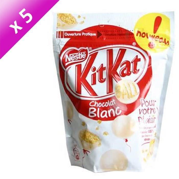 [LOT DE 5] NESTLE Kitkat Ball Billes au chocolat blanc - 250 g