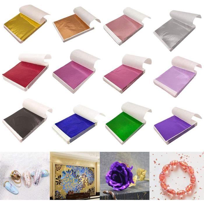 Multicolore Feuille d'or,Imitation Feuille d'or,Feuilles de Feuille d'or D'Imitation,Feuilles de Papier Doré Imitation,pour la Décor