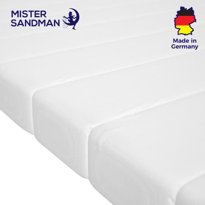 Surmatelas 160x200cm mousse confort housse microfibre surmatelas ferme et moelleux pour un sommeil réparateur sur-matelas 160x200