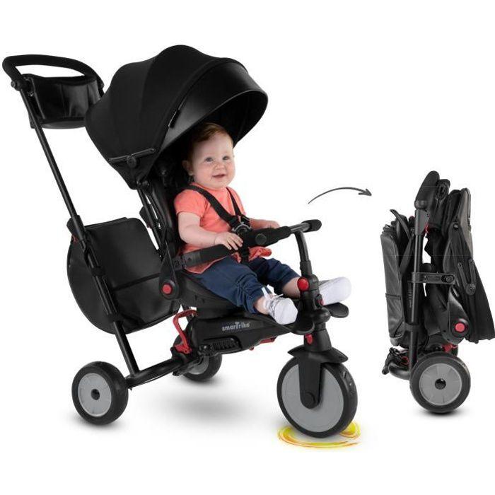 smarTrike 7-Urban Tricycle évolutif 7 en 1 pliant / siège inclinable Bebe smart trike - Noir
