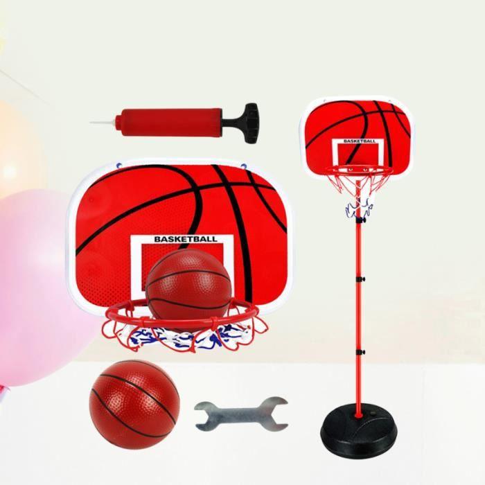 Ensemble de basketball pour enfants avec support pour entraînement sur métal, cadre de tir en hauteur, intérieur, sports de plein