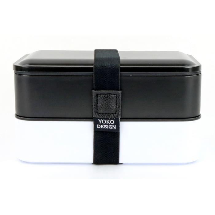 Lunch box 2 étages noire - YOKO DESIGN