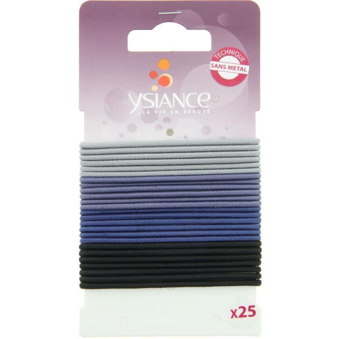 YSIANCE Lot de 25 Elastiques à cheveux Fins GL - Bleu