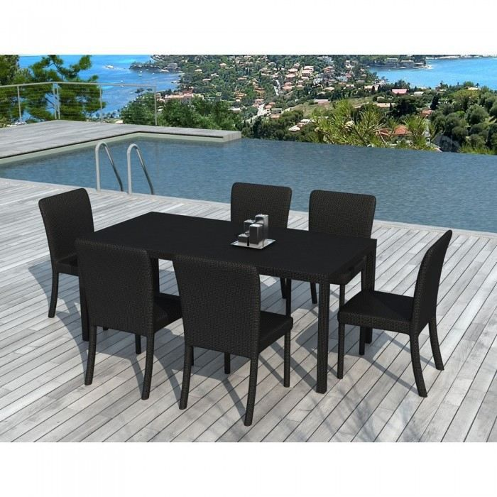table de jardin en verre. Black Bedroom Furniture Sets. Home Design Ideas