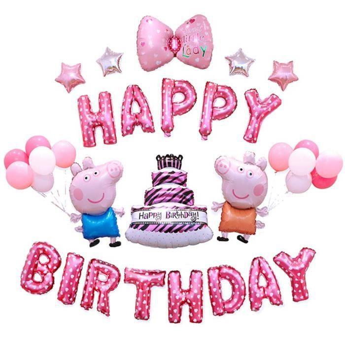 Peppa Pig Ballons Filles Anniversaire Partie Decorations Rose Joyeux Anniversaire Gateaux Ballons Mignon Gfef3 Achat Vente Ballon Decoratif Cdiscount