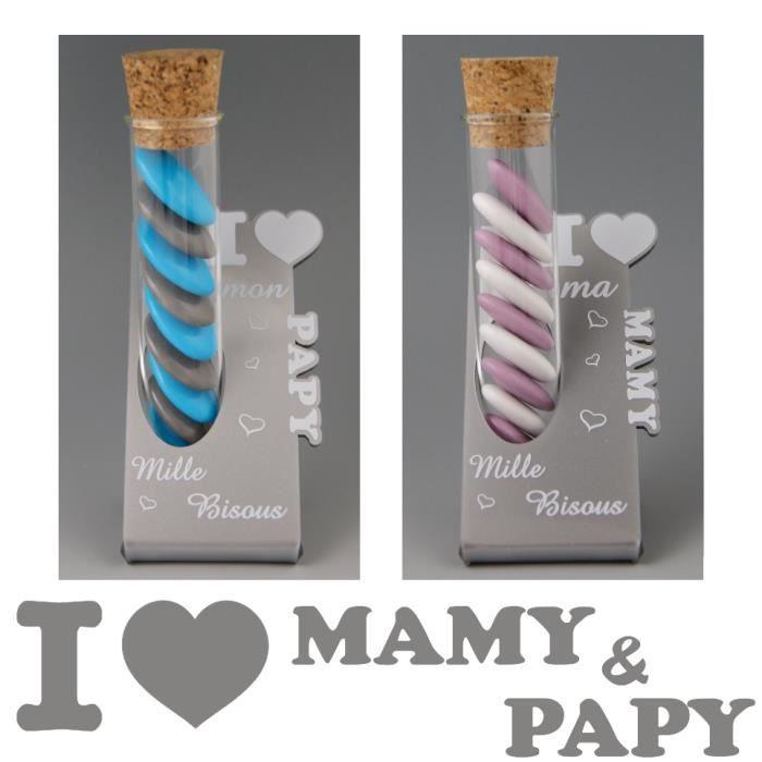 BOÎTE À DRAGÉES 2 Soliflores : 1 Papy & 1 Mamy - Cadeau pour Papi