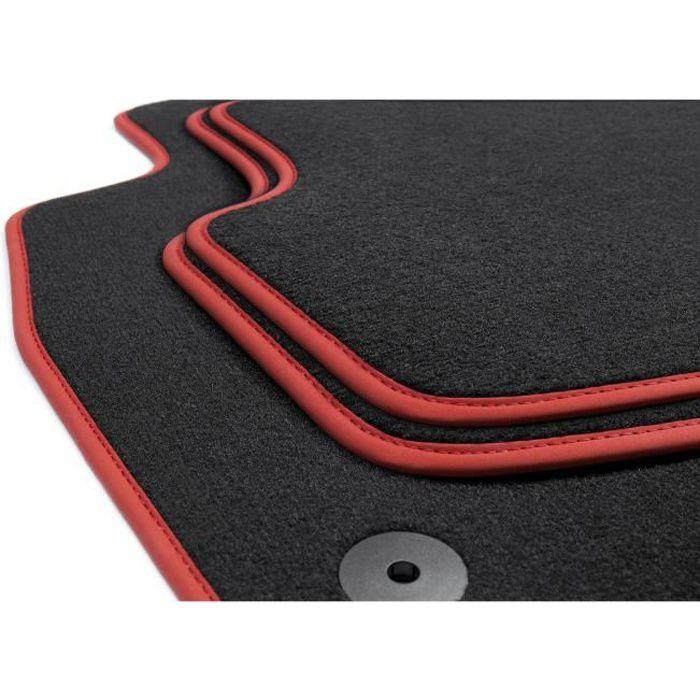 Voiture Universel Tapis De Sol-Noir Avec Rose Bordure pour VW Lupo Jetta Scirocco R GTi