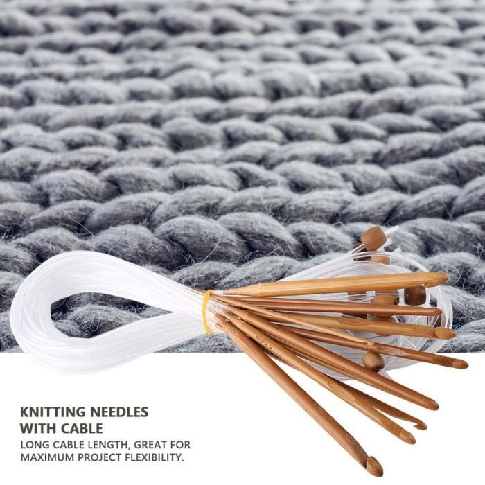 4 3.5 5 mm fil à tricoter Set 6pcs 3 4.5 Crochet crochets aiguilles 2,5