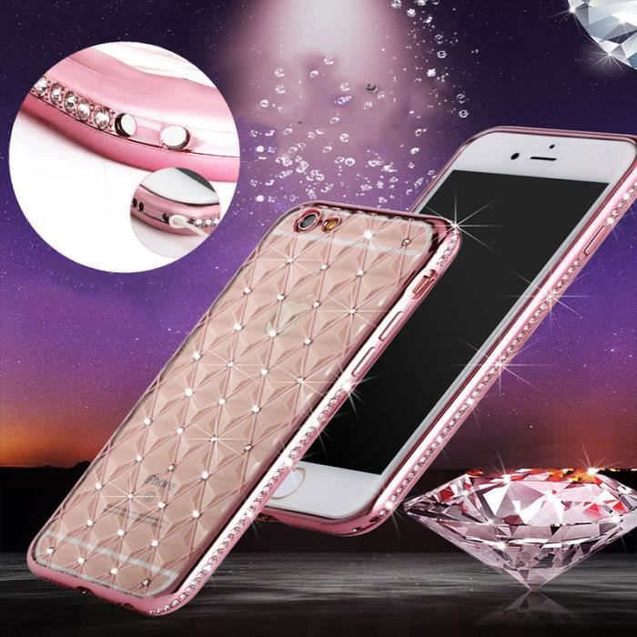 coque iphone 5 transparente rose